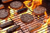Burgers on a Barbeque
